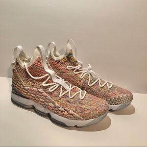 Nike LeBron XV 15 Cereal Fruity Pebbles Size 17